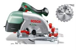 Ручная циркулярная пила Bosch PKS 55 A АКЦИЯ!!! + дополнительный диск на 24 зуба [0603501002]