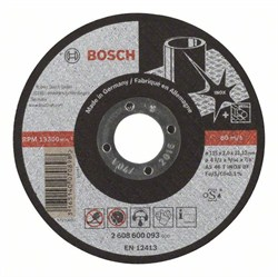 Отрезной круг, прямой, Bosch Expert for Inox AS 46 T INOX BF, 115 mm, 2,0 mm [2608600093]