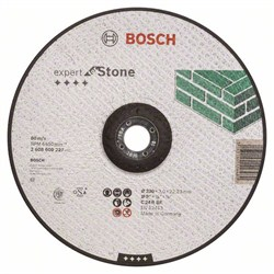 Отрезной круг, выпуклый, Bosch Expert for Stone C 24 R BF, 230 mm, 3,0 mm [2608600227]