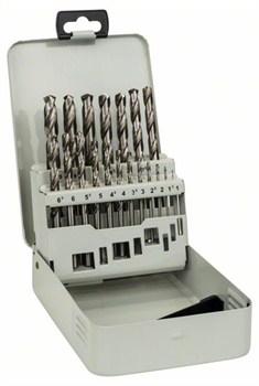 Набор из 19 сверл по металлу Bosch HSS-G, DIN 338, 135°, в металлической кассете 1-10 mm, 135° [2607018726]