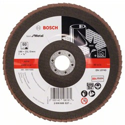 Bosch Лепестковый шлифкруг 180 мм, 22,23 мм, 60 [2608606937]