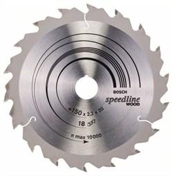 Пильный диск Bosch Speedline Wood 150 x 20 x 2,2 mm, 18 [2608640781]