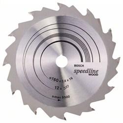 Пильный диск Bosch Speedline Wood 160 x 16 x 2,4 mm, 12 [2608640784]