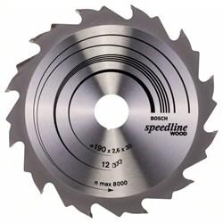 Пильный диск Bosch Speedline Wood 190 x 30 x 2,6 mm, 12 [2608640800]