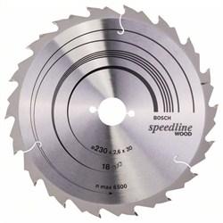 Пильный диск Bosch Speedline Wood 230 x 30 x 2,6 mm, 18 [2608640804]