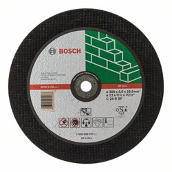 Отрезной круг, прямой, Bosch Expert for Stone C 24 R BF, 300 mm, 20,00 mm, 4,0 mm [2608600707]