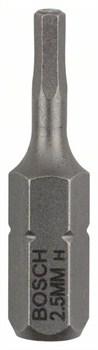 Насадка-бита Bosch Extra Hart HEX 2,5, 25 mm [2607001720]