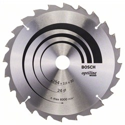Пильный диск Bosch Optiline Wood 254 x 30 x 2,0 mm, 24 [2608640434]