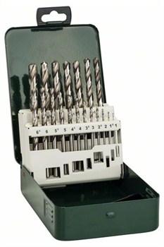 Набор из 19 свёрл по металлу Bosch HSS-G, DIN 338 1,0; 1,5; 2,0; 2,5; 3,0; 3,5; 4,0; 4,5; 5,0; 5,5; 6,0; 6,5; 7,0; 7,5; 8,0; 8,5; 9,0; 9,5; 10,0 mm [2609255062]