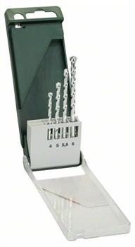 Bosch Набор из 4 свёрл по камню 4,0x75; 5,0x85; 5,5x85; 6,0x100 [2609255459]
