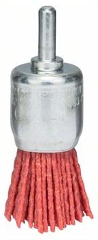 Кистевая щётка для дрелей – нейлоновая проволока, корунд, зернистость Bosch K80, 25 мм 25 мм, 1 мм, 4500 об/мин [2609256540]