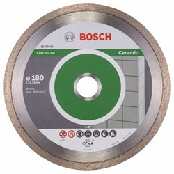 Алмазный отрезной круг Bosch Standard for Ceramic 180 x 22,23 x 1,6 x 7 mm [2608602204]