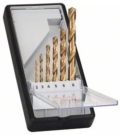 Набор из 6 свёрл по металлу Bosch Robust Line HSS-TiN, 135° 2; 3; 4; 5; 6; 8 mm, 135° [2607010530]