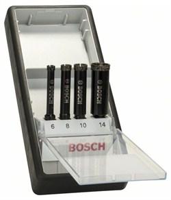 Набор из 4 алмазных свёрл Bosch Robust Line для мокрого сверления 6; 8; 10; 14 mm [2607019880]