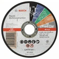 Отрезной круг, прямой, Bosch Rapido Multi Construction ACS 46 V BF, 125 mm, 1,6 mm [2608602383]