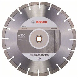 Алмазный отрезной круг Bosch Expert for Concrete 300 x 20,00+25,40 x 2,8 x 12 mm [2608602560]
