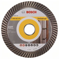 Алмазный отрезной круг Bosch Expert for Universal Turbo 125 x 22,23 x 2,2 x 12 mm [2608602575]