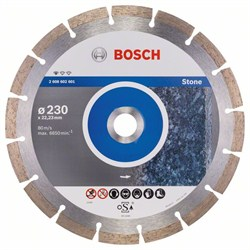 Алмазный отрезной круг Bosch Standard for Stone 230 x 22,23 x 2,3 x 10 mm [2608602601]