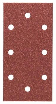 Bosch Набор из 10 шлифлистов для виброшлифмашин 93 x 185, 80 [2609256A89]