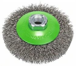 Коническая щетка, нерж. 100 mm, 0,35 mm, Bosch M14 [2608622108]