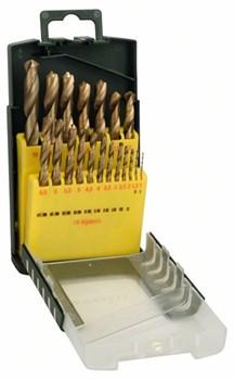 Набор из 19 сверл по металлу Bosch HSS-TiN [2607017152]