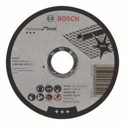 Отрезной круг, прямой, Bosch Standard for Inox WA 60 T BF, 115 mm, 22,23 mm, 1,6 mm [2608603170]