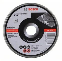 Отрезной круг, прямой, Bosch Standard for Inox - Rapido WA 60 T BF, 125 mm, 22,23 mm, 1,0 mm [2608603255]
