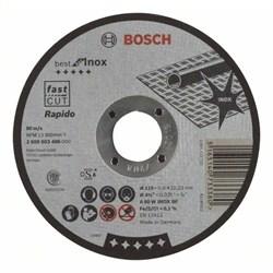 Отрезной круг, прямой, Bosch Best for Inox, Rapido A 60 W INOX BF, 115 mm, 0,8 mm [2608603486]