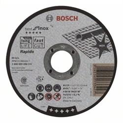 Отрезной круг, прямой, Bosch Best for Inox, Rapido A 60 W INOX BF, 115 mm, 1,0 mm [2608603490]