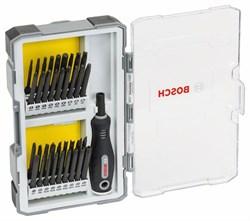 Набор из 37 отверток с рукояткой Bosch PH1-2-3; PZ1-2-3; SL5-6; TH8-110-15-20-25-27-30-40; TQ6-8-10; HEX2-2,5-3-4-5-6; TW 1-2-3-4; SP 4-6-8-10; R1-2-3 [2607017320]