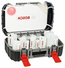 Универсальный набор из 13 коронок Bosch Progressor 20; 22; 25; 32; 35; 40; 44; 51; 60; 64; 76 mm [2608594063]