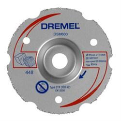 Многофункциональный твердосплавный отрезной круг DREMEL® DSM20 для резки заподлицо [2615S600JA] - фото 28116