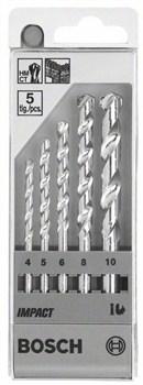 Набор из 5 свёрл по камню Bosch Impact 4; 5; 6; 8; 10 mm [1609200228]