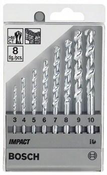 Набор из 8 свёрл по камню Bosch Impact 3; 4; 5; 6; 7; 8; 9; 10 mm [2607018366]