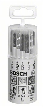 Bosch Набор из 13 свёрл по металлу, древесине, камню 2-6 mm; 4-6 mm; 4-8 mm 2607018367