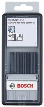 Bosch Набор из 4 алмазных свёрл Robust Line для мокрого сверления 5; 6; 7; 8 mm 2607019881